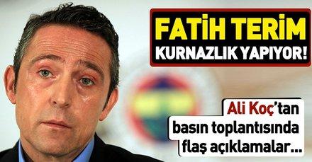 Fenerbahçe Başkanı Ali Koç: Fatih Terim açıklamalarıyla kurnazlık yapıyor