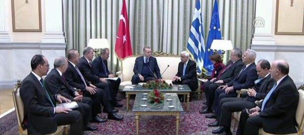 Erdoğandan Yunanistanda tarihi ayar