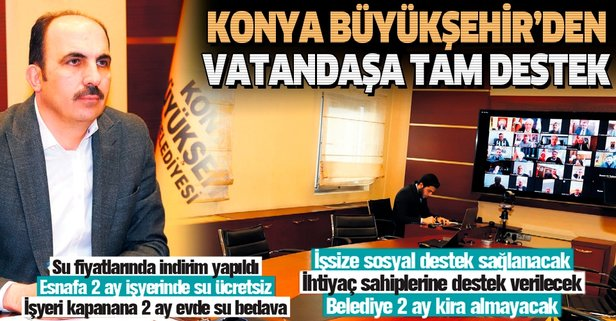 Konya Büyükşehir'den vatandaşa tam destek
