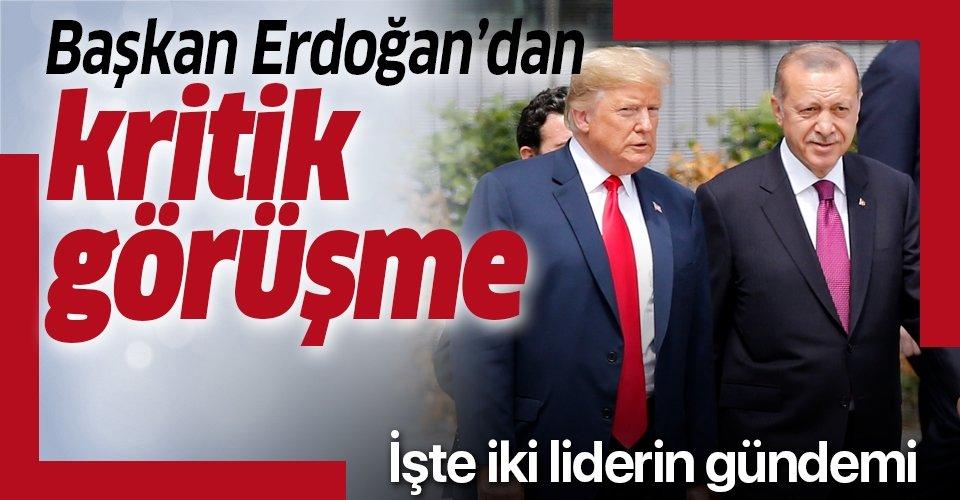 Başkan Erdoğan, ABD Başkanı Donald Trump ile görüştü