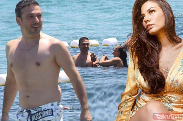 Demet Özdemir ile Oğuzhan Koç bu kez de Çeşme plajında... Pembe mayosu ile ortalığı kasıp kavuran 29 yaşındaki Demet yine olay!