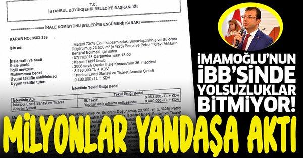 Ekrem İmamoğlu'nun İBB'sinde bir yolsuzluk daha! CHP'li İBB'nin kasasına girecek 20 milyon lirayı yandaşına akıttı - Takvim