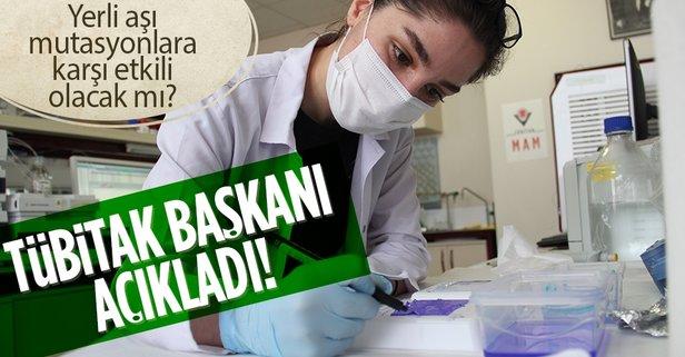 TÜBİTAK Başkanı Mandal'dan flaş yerli aşı açıklaması