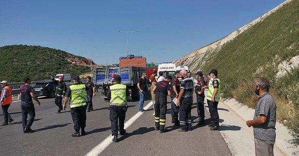 İşçi servisiyle kamyon çarpıştı: Yaralılar var