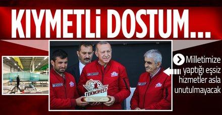 Başkan Erdoğan'dan Özdemir Bayraktar mesajı: Milletimize yaptığı eşsiz hizmetler asla unutulmayacaktır