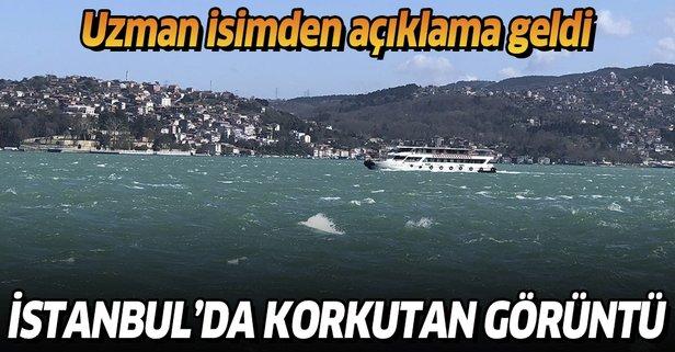 İstanbul Boğazı'nda endişe yaratan görüntü!