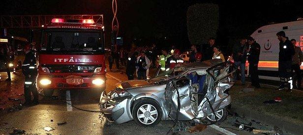 Sakarya'da zincirleme trafik kazası: 3 ölü, 7 yaralı