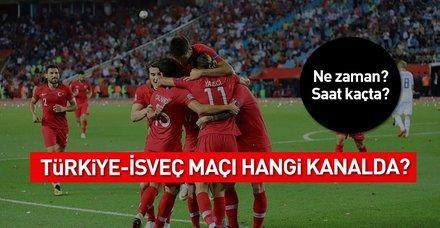 Türkiye İsveç 2018 Uluslar Ligi maçı hangi kanalda? Ne zaman saat kaçta?
