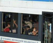 Toplu taşımada tedirgin eden görüntü