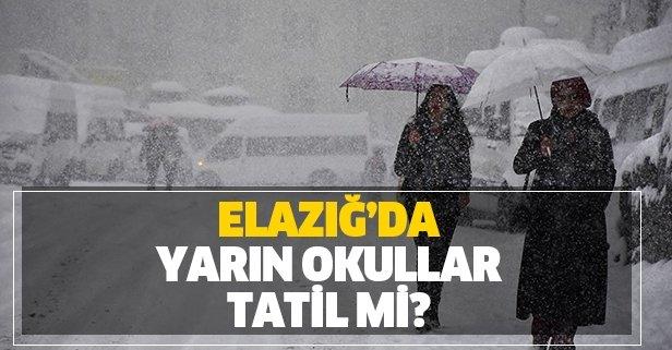 Elazığ'da yarın okullar tatil mi?