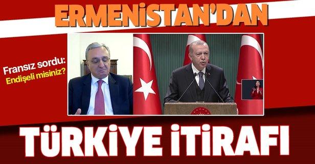 Ermenistan'dan Türkiye itirafı