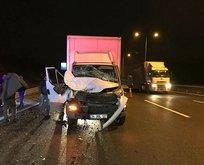 Kuzey Marmara Otoyolu'nda korkunç kaza! 1 yaralı
