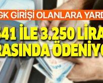 541 lira ile 3.250 lira arasında ödeniyor!