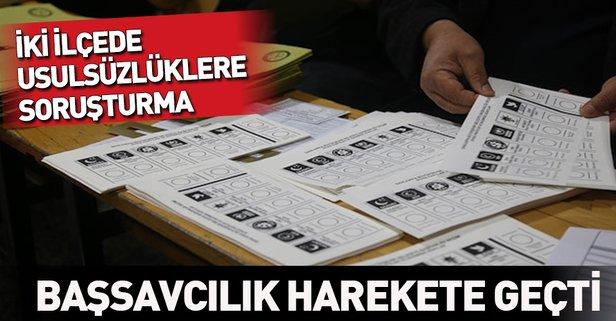 Kartal ve Kadıköy'de sandık sayımında usulsüzlüğe soruşturma