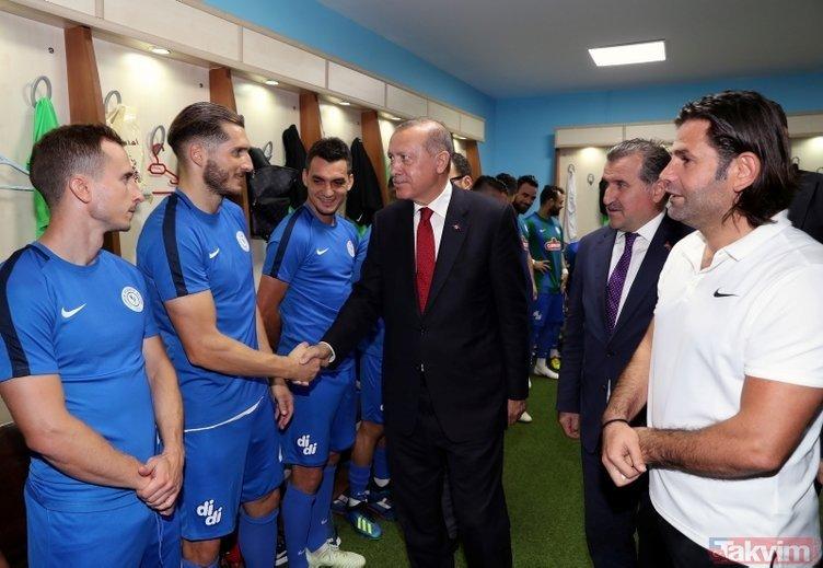 Başkan Erdoğan, Rizede maç izledi