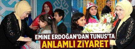 Emine Erdoğan, Maarif Okulu'nu ziyaret etti
