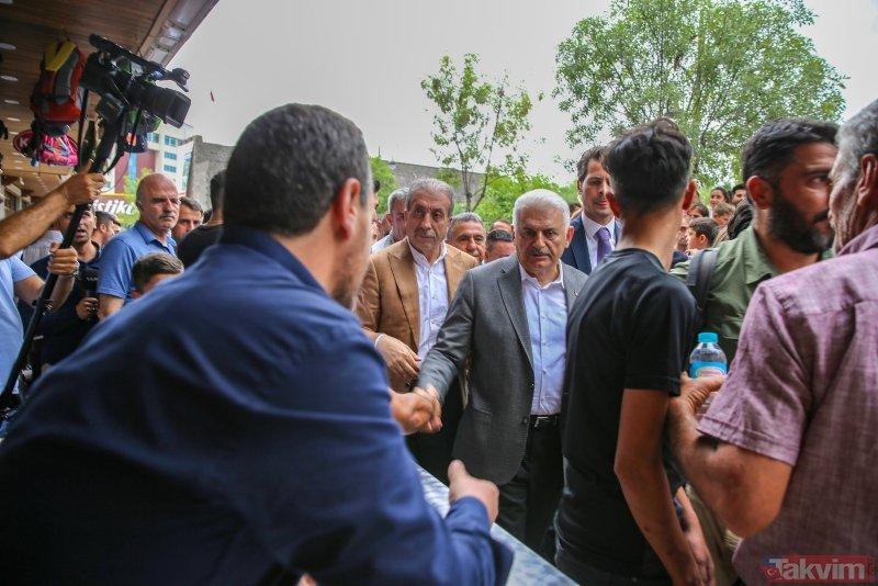 Binali Yıldırım, Diyarbakır'da esnafı ziyaret etti