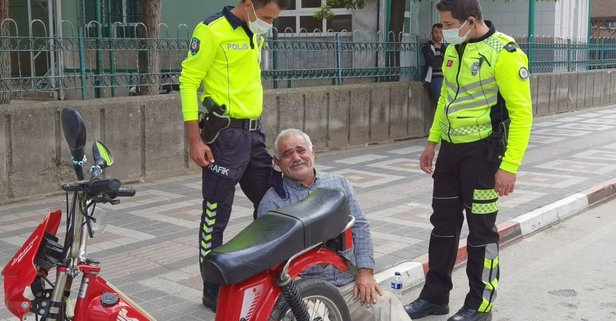Cezayı duyan yaşlı adamın tansiyonu yükseldi