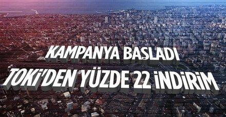 TOKİ'den borcu olana yüzde 22 indirim kampanyası!
