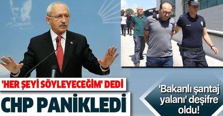 CHP'nin sarıldığı 'bakanlı şantaj yalanı'nın perde arkası gün yüzüne çıktı