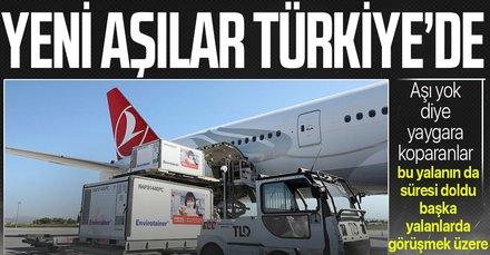 Yeni CoronaVac aşıları Türkiye'de