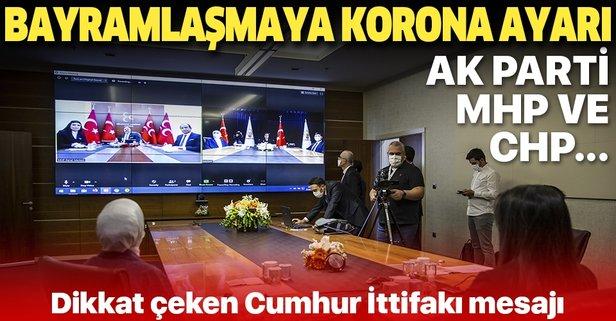 AK Parti, CHP ve MHP ile böyle bayramlaştı