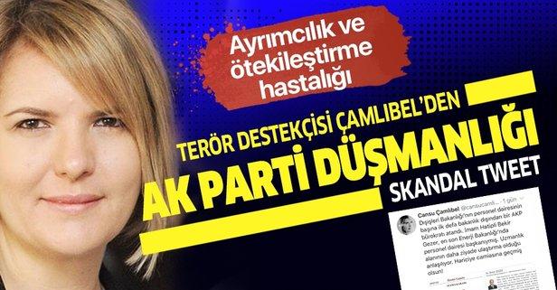 Cansu Çamlıbel'dan AK Parti düşmanlığı
