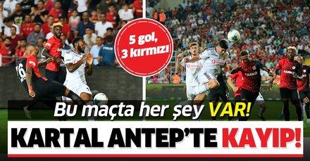 Beşiktaş Antep'te kayıp! (MS: Gazişehir Gaziantep 3-2 Beşiktaş)