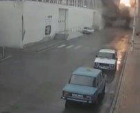 Gence'deki saldırı güvenlik kamerasına yansıdı!