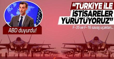 ABD'den son dakika F-35 açıklaması: Türkiye ile istişareler yürütüyoruz