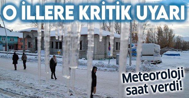 Meteoroloji saat verdi! Buzlanma ve don uyarısı