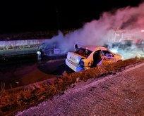 Uşak'ta korkunç kaza! Yanan araçta can verdi