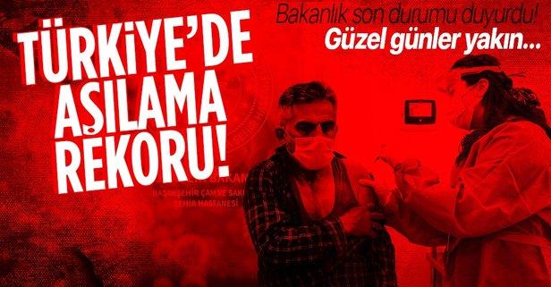 Türkiye'de aşılamada rekor!