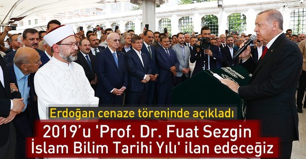 Prof. Dr. Fuat Sezgine son veda...