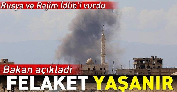Rusya ve Rejim İdlib'i vurdu!