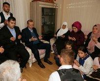 Erdoğandan Eren Bülbülün ailesine ziyaret