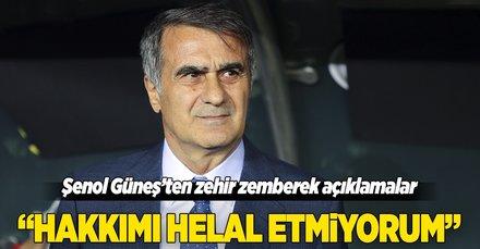 Şenol Güneş, Yeni Malatyaspor maçı sonrası zehir zemberek açıklamalar yaptı