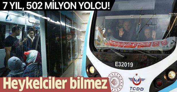Marmaray'da 502 milyondan fazla yolcu seyahat etti