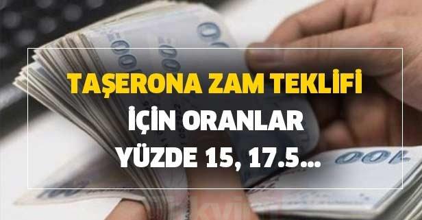Çalışma Bakanlığı'nın taşerona zam teklifi için oranlar yüzde 15, 17.5...