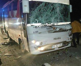 Kocaeli'de tırla çarpışan özel halk otobüsünde 6 kişi yaralandı