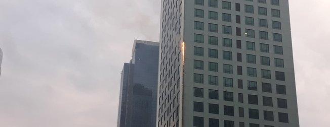 İstanbul Maslak'ta gökdelen yangını