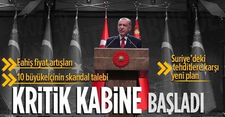 Türkiye'nin gözü burada! Kabine toplantısı başladı