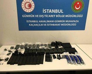 İstanbul Havalimanı'nda silah parçaları ele geçirildi
