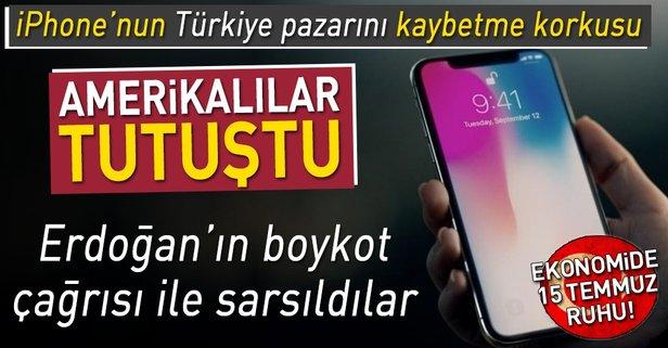 Başkan Erdoğanın iPhonea boykot çağrısı ses getirdi