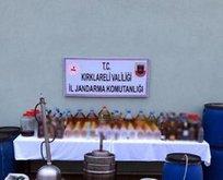 Lüleburgaz'da sahte içki operasyonu: 2 gözaltı