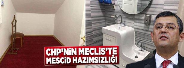 CHPnin Meclise yapılan mescide itirazı var