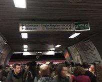 Hacıosman-Yenikapı metro hattında aksama