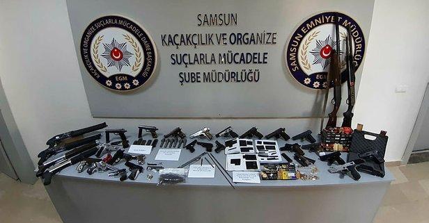 Silah kaçakçılarına operasyon düzenlendi