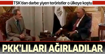 Barış Pınarı Harekatı'na karşı çıkan darbeci Sisi yönetimi YPG'li teröristleri Kahire'de ağırladı
