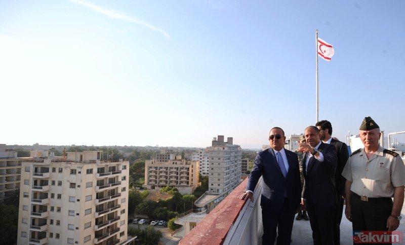 Bakan Çavuşoğlu, kapalı Maraş'ı ziyaret etti